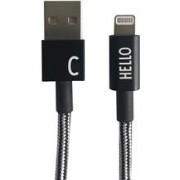 Design Letters Micro USB Cable 1 M Black C