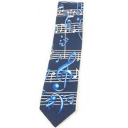 Musikboutique Hahn Tie Blue Treble/Bass Clef
