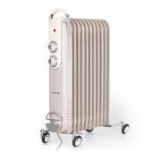 Klarstein Thermaxx Retroheat, маслен радиатор, 2500 W, колела, сиво-кафяв (taupe) (HTR6-ThmxRetro25Grey)