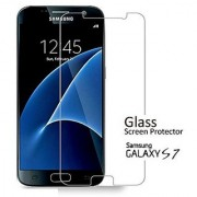 Galaxy S7 Screen Protector Linno Premium Tempered Glass Screen Protection Film for Samsung Galaxy S7 Against Scratches 9H screen protection Superb HD Viewing Anti Fingerprint