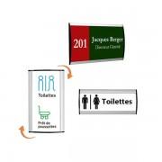 Edimeta Plaque signaletique budget Alusign® 7,4 x 30 cm