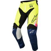 Alpinestars Pantaloni Moto Cross 2018 Racer Supermatic White Dark Blue Yellow Fluo Cod. 3721518