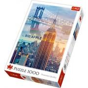 Puzzle clasic peisaj zori de zi New York, 1000 piese