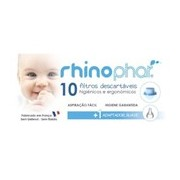 Filtros descartáveis 10 unidades + 1 adaptador suave - Rhinophar