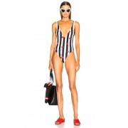Solid & Striped Michelle Swimsuit in Abstract,White,Stripes. - size S (also in L,M,XS)