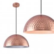 [lux.pro]® Lámpara colgante metal cobre - blanco [Ø40cm]