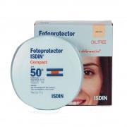 Isdin Fotoprotector Compact Fondotinta Compatto Oil-Free Per Pelli Miste Spf50+ Sabbia (10g)