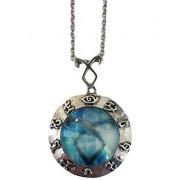 Mortal Instruments Blue Angelic Power Rune Pendant Necklace