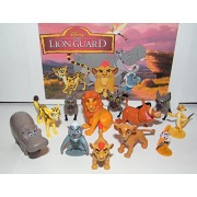 Disney The Lion Guard Deluxe Figure Set of 13 with Prince Kion Cub Kiara Bunga the Badger Pumba Timon King Simba 3 Hyenas and Many More