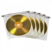 Hama Cd/dvd Double Protective Sleeves (pack Of 50 - White)