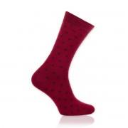 Șosete bărbătești Willsoor 8729 în culoarea roșu, cu model cu cuburi