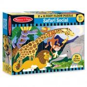 Puzzle de podea Safari social (24 piese)