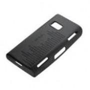 Черен силиконов калъф за Nokia X6