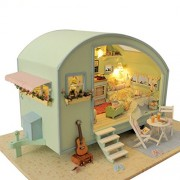 Rylai Wooden Handmade Dollhouse Miniature DIY Kit - Time Travel Series Dollhouses & Furniture(NO Dus
