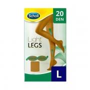 Scholl Light Legs Beige 20 DEN L kompressziós harisnya 1db