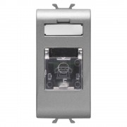 Priza telefon RJ11 titan 1 modul Gewiss Chorus GW14401