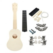 Rishil World 21 inch Unassembled Wooden Ukulele with Musical Accessories for Guitar DIY