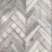DUTCH WALLCOVERINGS Wallpaper Wood/Herringbone Grey 7361-1