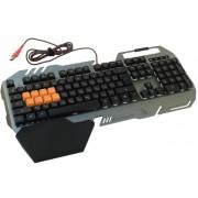 Tastatura Gaming A4Tech Bloody B418 Light Strike, Iluminata, USB (Negru/Argintiu)