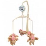 Carusel Muzical Pentru Patut Calm Baby - Pretty Pink Hats