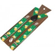 Peluche Y- Back Suspenders for Men, Boys(Green, Yellow, White, Black, Silver)