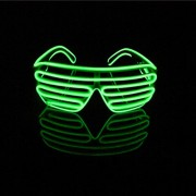 Lerway Neon Wire El Ecrro Luminescence Led Lighting Slotted Shutter Fun Cool Glasses Eye Mask Novelty Eyeglasses + Voice Controller, for Clubbing Disco Dj, Sporting Meeting (Light Green)
