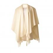 Boris Dames mantel / cape poncho wit