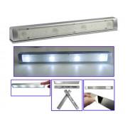 NTR LAMP07 Rázkódás érzékelős LED lámpa szekrénybe és fiókba 4xSMD LED 7500K 3xAAA