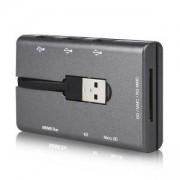 Четец за карти CANYON, USB 2.0, Сив, CNE-CARD2