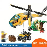 Generic 10709 Jungle Cargo Helicopter Building Blocks Sets Kids Educational Bricks Classic Model Toys Gift Compatible 60158