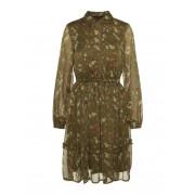VERO MODA Florales Kleid Mit Langen Ärmeln Damen Grün