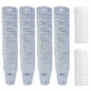 Pachet 4 + 2 - Pahare de unica folosinta din carton Pahar pentru Cafea Ceai Bauturi calde 7.5 OZ 160ml 4x50bucSet + Capa