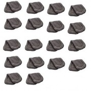 Kuhu Creations Washable Extra Thick 5 Layers Reusable Cloth Insert for Diaper/Nappy. (Grey 18 Unit)