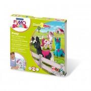 Gyurma készlet, 4x42 g, égethető, FIMO Kids Form & Play, pónik