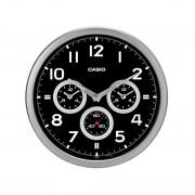 Ceas de perete Casio Wall Clocks IQ-90A-8DF cu dublu Dual Time, secundar silentios si aratatoare fosforescente