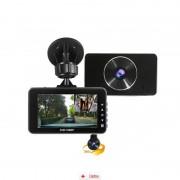 Camera Auto Premium Full HD SM 215 cu camera rotativa + MicroSD 16Gb, CAR Triple