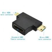 De-TechInn Hdmi Female To Mini Micro Hdmi Male Adapter T-shape Converter Hdmi Adapter Hdmi Adapter