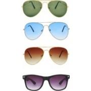 Dannilo Aviator, Wayfarer Sunglasses(Brown, Blue, Black, Green)