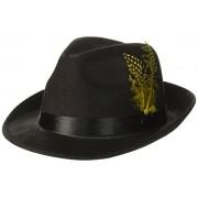 Forum Novelties 64376 Hip Hop Felt with Feather Hat, Black
