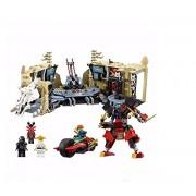 Generic Arrive 10530 1307Pcs Ninja Series Chaos Warrior Cave Model Building Blocks Set Bricks Toys for Children Gift 70596