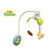 Baby Mobil Wind-up Motion & Music for age 6+ months - cradle hanging 2 in 1 musical mobile toy, take along from crib to stroller