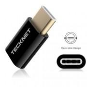 Адаптер TeckNet TF001, от USB C(м) към USB micro B(ж), черен