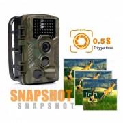 8 mega pixeles de color CMOS video 1080P fotografiado camara de caza al aire libre - camuflaje verde