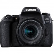Digitalni SLR fotoaparat Canon EOS 77D Uklj. EF-S 18-55 mm IS STM 24.2 MPix Crna Bluetooth