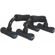 Care Fitness opdruksteunen Push up bar 2 stuks zwart