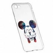 Husa Silicon Transparent Slim Mini Mouse FU Apple iPhone 6 6S