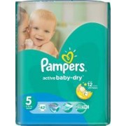 Scutece Pampers Active Baby 5 Value Pack 42 buc