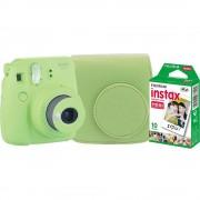 Fujifilm Instax Mini 9 Aparat Foto Instant Lime Green cu Husa si Film 10 buc
