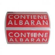 """Etiquetas adhesivas """"CONTIENE ALBARÁN"""" (120 x 50 mm)"""