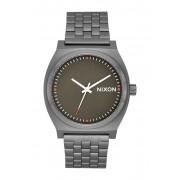 Nixon Mens The Time Teller Bracelet Watch 37mm GUNMETALSLATEORANGE